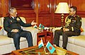 The Chief of Army Staff, Bangladesh, Gen. Abu Belal Muhammad Shafiul Huq meeting the Chief of Army Staff, General Bipin Rawat, in New Delhi on December 07, 2017.jpg