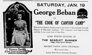 <i>The Cook of Canyon Camp</i> 1917 film by Donald Crisp