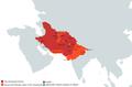 The Ghaznavid Empire at its maximum extent.png