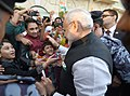 The Indian community enthusiastically welcomes the Prime Minister, Shri Narendra Modi to Muscat, Oman on February 11, 2018.jpg