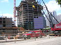 The Infinity (300 Spear Street) construction site, with the skyline of San Francisco in the back.JPG