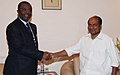 The Minister of Defence, Republic of Cameroon, Mr. Edgard Alain Mebe Ngo'o calling on the Defence Minister, Shri A. K. Antony, in New Delhi on March 30, 2012.jpg
