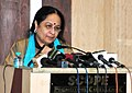 The Minister of State (Independent Charge) for Environment and Forests, Smt. Jayanthi Natarajan addressing the All India Meeting of Field Directors of Tiger Reserves, in New Delhi on May 02, 2012.jpg