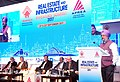 The Minister of State for Housing and Urban Affairs (IC), Shri Hardeep Singh Puri addressing at the Real Estate and Infrastructure Investors Summit – 2017, in Mumbai on September 21, 2017.jpg