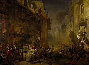 Porteous Riots - The Porteous Mob, painted in 1855 by James Drummond