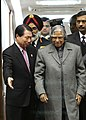 The President of India Dr. A.P.J. Abdul Kalam was received by HE. Mr. Iyu Myung-Hwan the acting Foreign Minister of Republic of Korea at Seoul airport on 6 February 2006.jpg