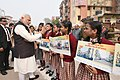 The Prime Minister, Shri Narendra Modi interacting with the students at Kabir Nagar, in Varanasi, Uttar Pradesh on December 22, 2016.jpg