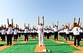 The Prime Minister, Shri Narendra Modi participates in the mass yoga demonstration, on the occasion of the 4th International Day of Yoga 2018, at the Forest Research Institute, in Dehradun, Uttarakhand on June 21, 2018 (3).JPG