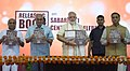 The Prime Minister, Shri Narendra Modi releasing a book on Sabarmati Centenary Celebrations, in Ahmedabad, Gujarat.jpg