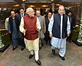 The Prime Minister, Shri Narendra Modi visits the Prime Minister of Pakistan, Mr. Nawaz Sharif's home in Raiwind, where his grand-daughter's wedding is being held, in Pakistan on December 25, 2015 (3).jpg