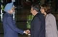The Prime Minister Dr. Manmohan Singh being received by the acting President of Cuba Mr. Raul Castro at the XIVth Non-Aligned Movement Summit at Havana, Cuba on September 15, 2006.jpg
