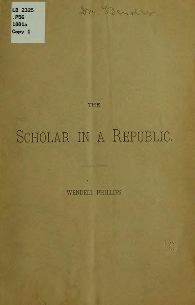 File:The Scholar in a Republic.djvu