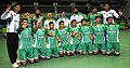 The Silver Medal winning Men team of Pakistan in the handball event, at the 12th South Asian Games-2016, in Guwahati on February 15, 2016.jpg