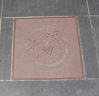 The Tragically Hip - The Tragically Hip's star on Canada's Walk of Fame