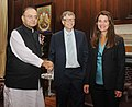 The Union Minister for Finance, Corporate Affairs and Defence, Shri Arun Jaitley meeting Mr. Bill Gates and Ms. Melinda Gates, in New Delhi on September 18, 2014.jpg