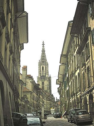 Junkerngasse - The Junkerngasse, looking north towards the Münster.
