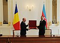 The ceremony of presenting decorations of highest orders took place between the Presidents of Azerbaijan and Romania.jpg