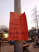 The colour I belong to is tricolour not saffron At Shaheen Bagh protests 11 Jan 2020.jpg