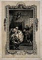 The death bed of Don Quixote. Line engraving by Blake after Wellcome V0015119ER.jpg
