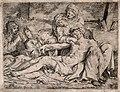 The four holy women lament over the dead Christ. Engraving b Wellcome V0034799.jpg
