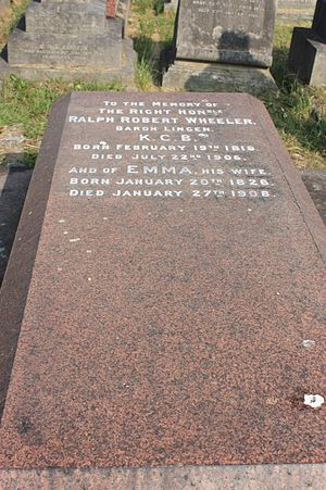 Ralph Lingen, 1st Baron Lingen - The grave of Baron Lingen, Brompton Cemetery