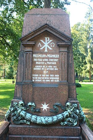 Maximilian Messmacher - The grave of Maximilian von Messmacher, Dresden