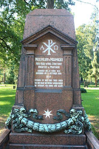 Maximilian Messmacher - The grave of Maximilian von Messmacher, Dresden