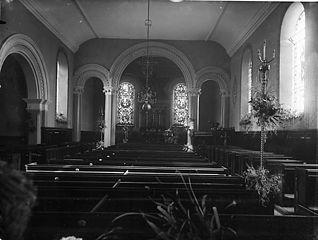 The interior of the church, Llanfyllin
