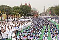 The participants in the mass performance of Common Yoga Protocol, on the occasion of the 4th International Day of Yoga -2018, at Red Fort, in Delhi on June 21, 2018 (4).JPG
