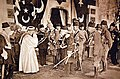The sheikh ul Islam, Emperor Wilhelm II, the sultan, Excellency Enver Pasha, WWI (29411748075).jpg