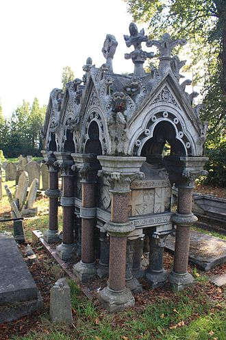 Kensal Green Cemetery - Tomb of Charles Spencer Ricketts