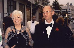 Academy Award for Best Film Editing - Thelma Schoonmaker and Columba Powell at the Cannes Film Festival (2009). Schoonmaker is among the deans of film editing; Powell is the son of Michael Powell, a prominent film director to whom Schoonmaker was married until his death in 1990.
