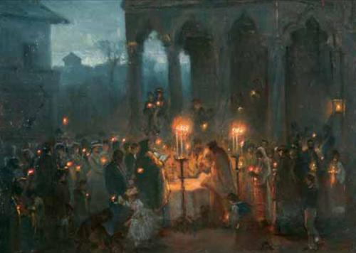 Theodor Aman - Slujba Învierii la Stavropoleos.PNG