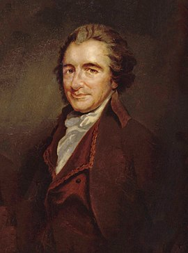 Thomas Paine, whose theory of property showed a libertarian concern with the redistribution of resources Thomas Paine rev1.jpg