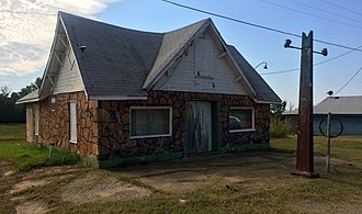Threatt Filling Station - Image: Threatt Filling Station Luther OK
