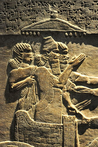Tiglath-Pileser III - Tiglath-pileser III, an alabaster bas-relief from the king's central palace at Nimrud, Mesopotamia.