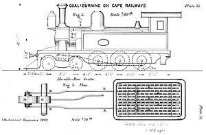 CGR 4th Class 4-6-0TT 1880 - Image: Tilney Firebox.1