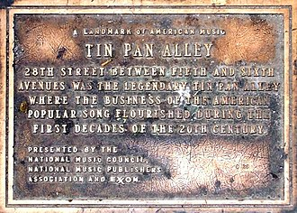 Tin Pan Alley - Plaque commemorating Tin Pan Alley