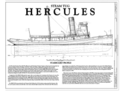 Title Sheet - Steam Tug HERCULES, Hyde Street Pier, San Francisco, San Francisco County, CA HAER CAL,38-SANFRA,201- (sheet 1 of 7).png