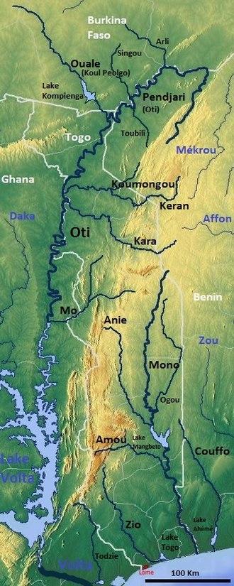 Oti River - Image: Togo OSM