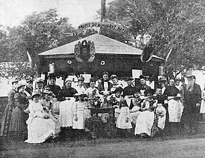 Monument-National - A fundraising event in 1890 for the construction of the Monument-National