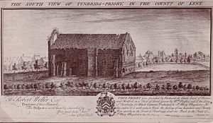 Tonbridge Priory - Remains of the Priory in 1735