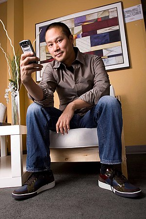 This is a picture of Tony Hsieh, CEO of Zappos.