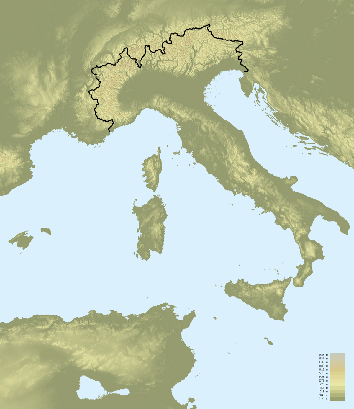 Cartina Francia Vuota.Confini Dell Italia Wikipedia