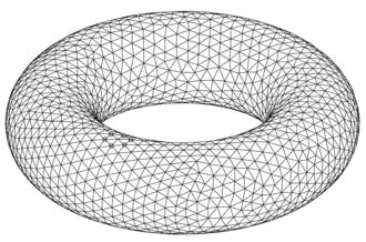 Triangulation (topology) - A triangulated torus