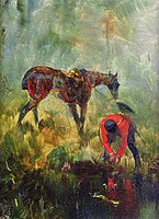 Toulouse-Lautrec - Hunting Horse with Hounds.jpg