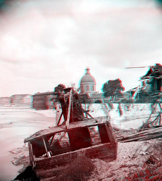 File:Toulouse , inondations de 1875, Lavoir échoué derrière La Grave tannin (en version anaglyphe) - Fonds Trutat - MHNT.PHa.1018.18.131.jpg