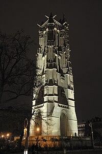 Tour Saint-Jacques at night, Paris 2009.jpg