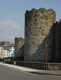 Grade I listed urban defence in Caernarfon, United Kingdom