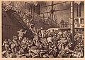 Träsnitt emigranter och fartyg (Knut Ekvall) - Sjöfartsmuseet Akvariet - SMG26778.jpg